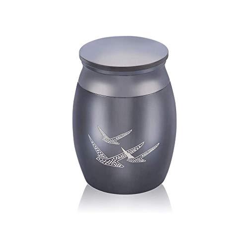 Kleine Urn Kleine Decoratie Souvenir Mini Crematie Tank Parfum Pot Familie Begrafenis Haar Gedenkteken Roestvrijstalen Aspot Zwart,bird