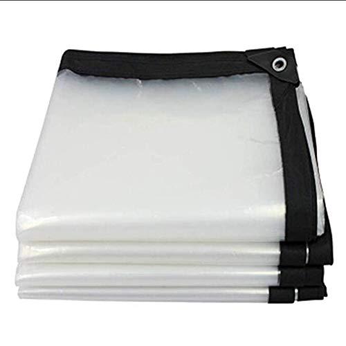 BAIYING Toldo Lona Impermeable Patio Transparente Tela Impermeable Cubierta Engrosamiento Coche Hebilla De Aluminio Polietileno 20 Tallas Personalizable (Color : Claro, Size : 2x3m)