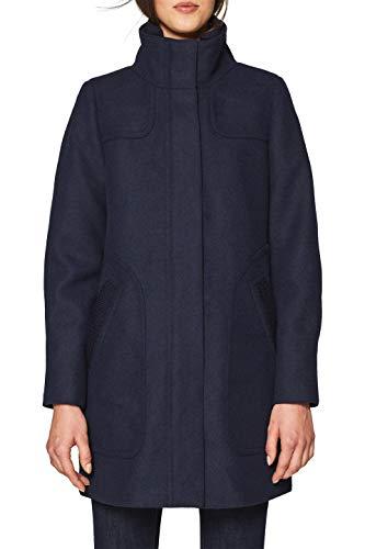 Esprit 108ee1g006 Abrigo, Azul (Navy 400), Large para Mujer