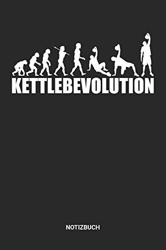 Notizbuch: A5 Notizheft mit punktierten Linien für Gewichtheben Freunde Ideales Evolution Kugelhantel Journal oder Notizbuch. Perfektes Tagebuch oder ... Liebhaber Geschenkidee für Männer & Frauen