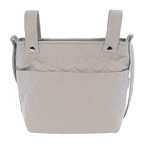 Bolso para Silla de Paseo - Talega para silla de Paseo Rosy Fuentes- Incluye Asa larga para el hombro y bolsillos interiores - Limpieza Sencilla 0-gris