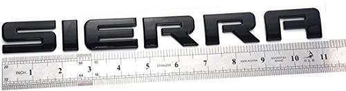 1Pcs SIERRA Letters L/R Door Rear Tailgate Emblem Replacement for GMC Sierra 1500 2500 (Black)