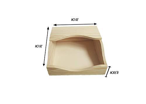Servilleteros de mesa En madera de pino, Para decorar. Manualidades y decoración. Medidas