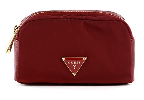 Guess Did I Say 90s? Double Zip Cosmetic Bag Burgundy