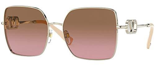 Sonnenbrillen Valentino V LOGO VA 2041 Pale Gold/Brown Pink Shaded 59/17/140 Damen