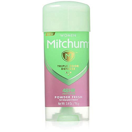 Mitchum For Women Anti-Perspirant Deodorant Clear Gel Powder Fresh 3.40 oz (Pack of 2)