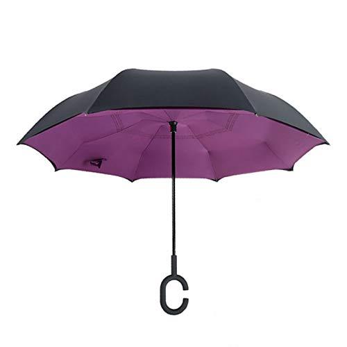 LYOOXX Parapluie Femelle Inversé À Double Tissu Opaque Inversé Et Anti-UV