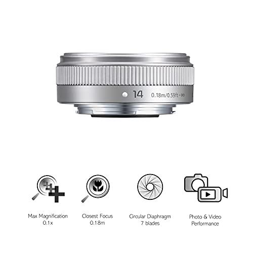 Panasonic Micro Four Thirds H-H014AE - 14 mm Brennweite Linse-Silber