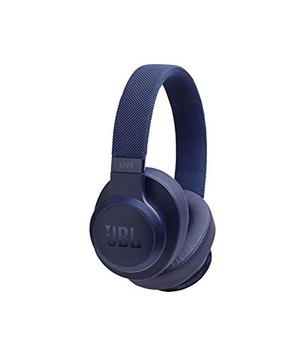 JBL Live 500BT by Harman, 30 Hrs Playtime, Quick Charge, Wireless Over Ear Headphones with Mic, Dual Pairing, AUX, Ambient Aware & Talk Thru, Built-in Alexa & Google Assistant Support (Blue)