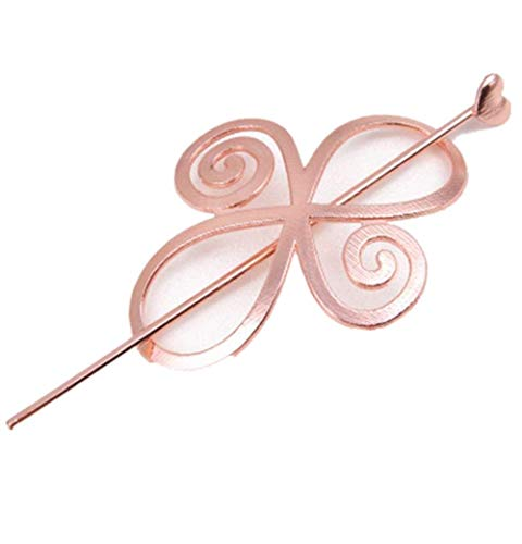 DAWEIF Pretty Exquisite Celtic Women Hair Accessory Hairpin Barrette for Long Hair Slide Clip Shawl Pin Bun Holder