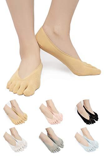 SendYouShine Mujer Respirable Calcetines del dedo del pie Compresión Calcetines Forro de...