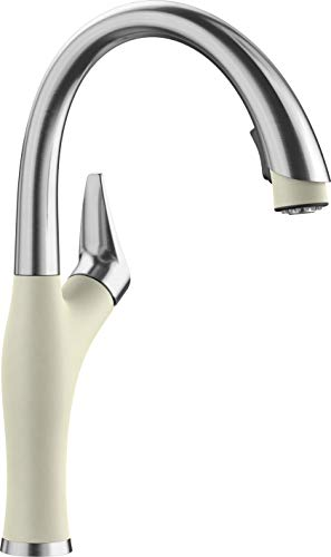 BLANCO, Biscuit 442273 ARTONA Color-Coordinated Pull-Down Dual Spray Kitchen Faucet, 1.5 GPM