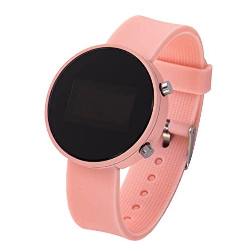 JSJJQAZ smart watch Vrouwen Horloges Mannen Sport Horloges Elektronische Klok Horloge Dames Digitaal Horloge (Kleur: Roze)