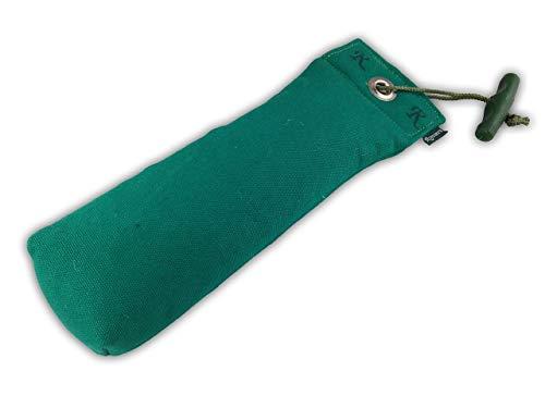 Romneys Standard Dummy 500g grün   Inklusive Wurfgriff   Schwimmfähig und unsinkbar   Ideal für das Apportiertraining