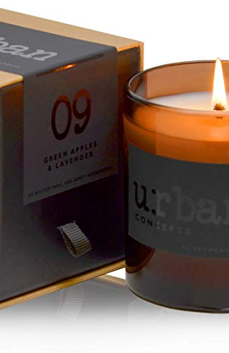DECOCANDLES Urban Concepts Revive - Green Apples & Lavender - Highly Scented Soy Candle - Long...