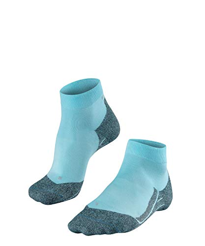 FALKE Damen Laufsocken RU4 Light Short - Funktionsfaser, Running Socken ohne Baumwolle, 1 er Pack, Blau (Turmalit 6802), 37-38