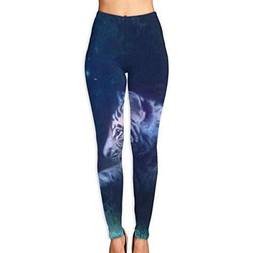 Ewtretr Yoga Pilates Hosen Fitnesshose für Damen, Tiger Bird Forest Printed Leggings Full-Length Yoga Workout Leggings Pants