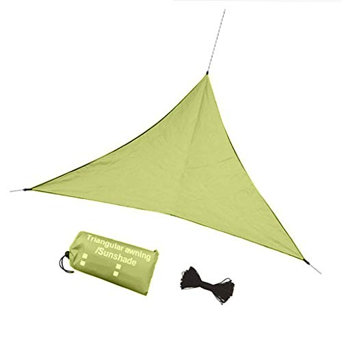 MagiDeal Impermeable 6,5 'x 6,5' x 6,5 'triángulo Arena sombrilla 160 gsm UV Bloque de Tela para Exteriores Carpa pérgola Patio Trasero Actividades - Verde
