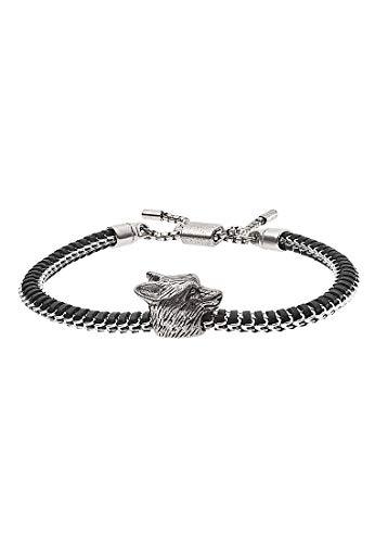 Emporio Armani EGS2661040 pulsera para hombre acero inoxidable plata negro 26 cm