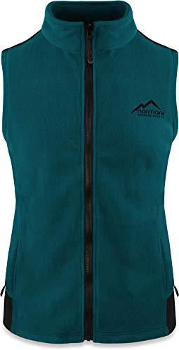 normani Fleece Weste für Damen mit Reißverschlusstaschen, Stehkragen, ZIP-T3K System Farbe Petrol Größe L