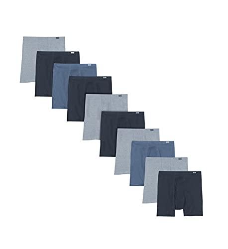Hanes Herren Men's 10-Pack Comfort Soft Boxer Briefs, Assorted, Small Boxershorts, Sortiert, (10er Pack)