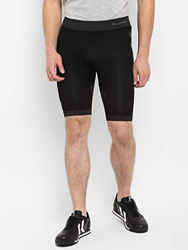 Hummel Herren First Seamless Short Tights, Black, M-L EU