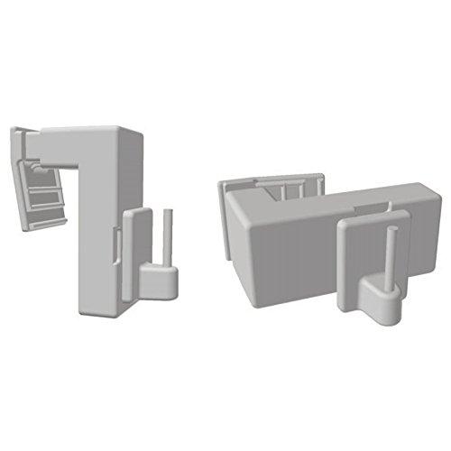 Easy-Shadow - 2 Stück Vario Klemmträger verstellbar für Vitragestangen / Scheibengardinenstangen / Vitragen - Klemmhalter für Fensterrahmen Rahmenstärke 10 mm - 25 mm Montage ohne Bohren oder Kleben - weiß