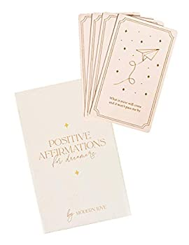 Affirmation Deck - 40 Positive Cards for Women - Inspirational and Motivational Daily Quotes - Perfect for Self-Care Self-Love Mindfulness Stress Relief and Thoughtful Care Package Gifts