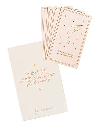 Affirmation Deck - 40 Positive Cards for Women - Inspirational and Motivational Daily Quotes - Perfect for Self-Care, Self-Love, Mindfulness, Stress Relief and Thoughtful Care Package Gifts