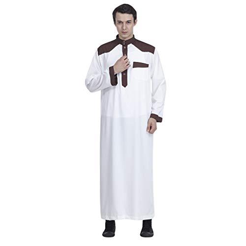Lucktime Herren Im Saudi-Stil, Robe Arabisch Saudi Mantel Royalty Omani Dubai Kleidung Islamische Kleidung Karnevalskostüm