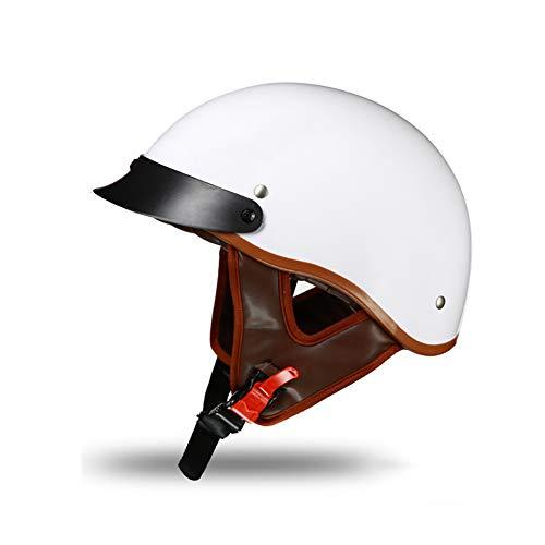 Yyou Half Helmet Motorcycle, Harley Helmet Street Scooter/Electric Car Riding Retro Half Helmet,XXL