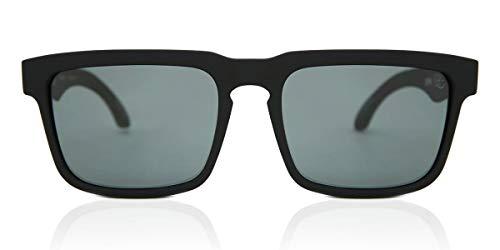 Spy Optic Helm Polarized Sunglasses, Soft Matte Black/Happy Gray/Green Polar, 57 mm