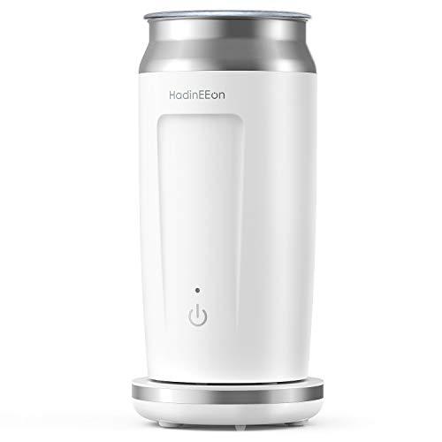 HadinEEon elektrischer Milchaufschäumer 4 in 1 Edelstahl Automatischer Milchschäumer Erhitzen und Aufschäumen für heiße und kalte Milch Bedienung auf Tastendruck ,Antihaftbeschichtung, 240ml (L)