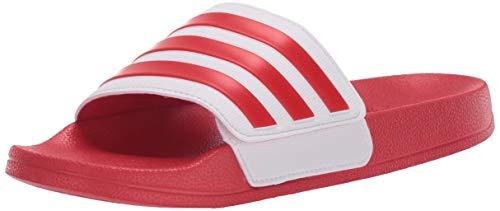 adidas Unisex-Child Adilette Shower Slide, Scarlet/Scarlet/White, 12K