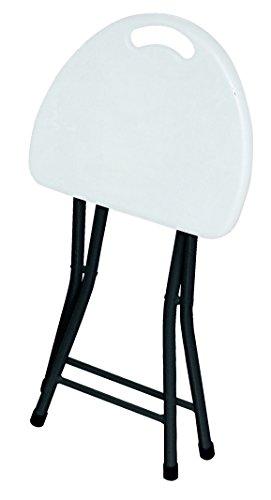 Resol Easy Stool Taburete Plegable, Blanco, 32.00x28.00x47.00 cm