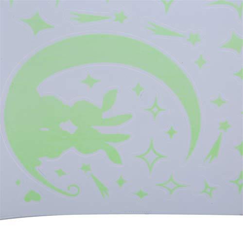 Pinhan Abnehmbare niedliche Wandaufkleber Moon Rabbit Wohnzimmer Schlafzimmer dekorative Wandaufkleber