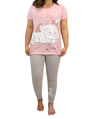 Disney Pijama para Mujer Los Aristogatos Rosa Large