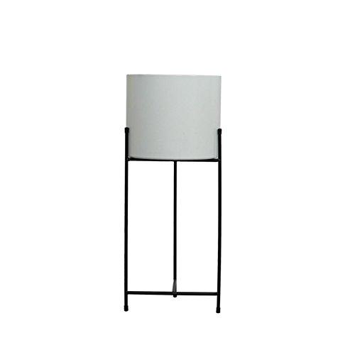 ZWD Stand de plante d'intérieur, créatif fer blanc Art Pot de fleur étage plancher salon chambre Bureau d'étude imperméable à l'eau antirouille Produits menagers (taille : 57.5 * 24CM)