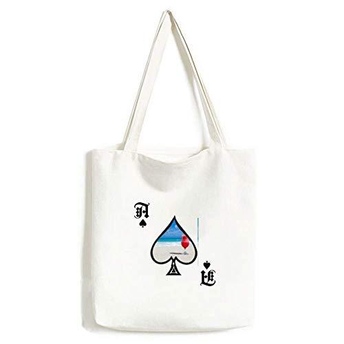 Ocean Sand Strand Wassermelone Saft Bild Handtasche Craft Poker Spaten waschbare Tasche