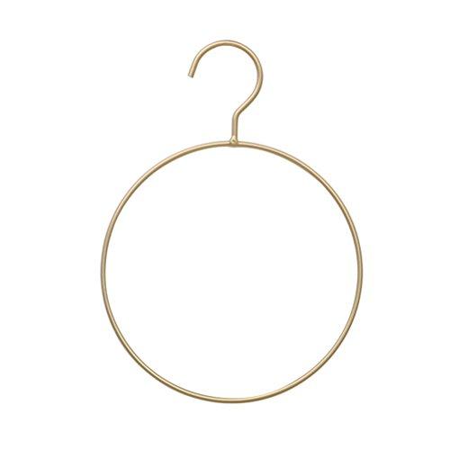 DOITOOL Appendini e clip rotondi in metallo grucce per bikini semplice anello da cintura per sciarpa, per camera da letto, armadio (dorato)