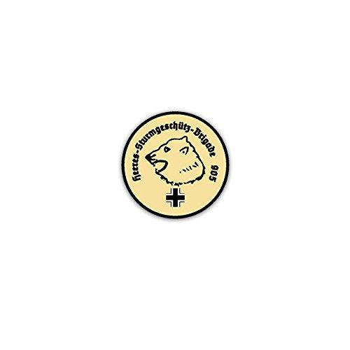 Stickers/Sticker -Heeres Stormverschrikking Brigade 905 Wh Beer Eisbär Kop WW2 Wk Pantser Wapen embleem 7x7cm #A3134