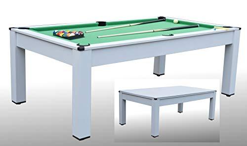 Tavolo da Biliardo ARTEMIDE Bianco - Carambola - (215 cm x 123 cm x 82 cm) - Completo di Tutti Gli Accessori