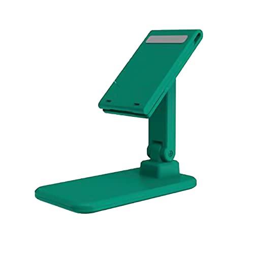 Sonoaud Soporte de escritorio universal plegable del soporte del teléfono ajustable para la transmisión en vivo verde