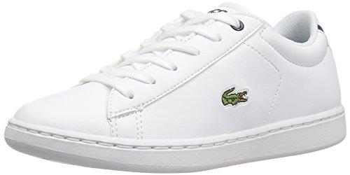 Lacoste Unisex-Baby Kids Carnaby Evo Spc Sneaker Sneaker, White/Navy, 8. M US Toddler
