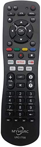 MYHGRC Mando a Distancia Universal de TV para Samsung, Vizio, LG, Sony, Panasonic, Toshiba, Philips, SEIKI, Hitachi, JVC,TCL,VESTEL,RCA Smart TV,con Control Remoto Universal Pare Apple,Roku,Sky STB