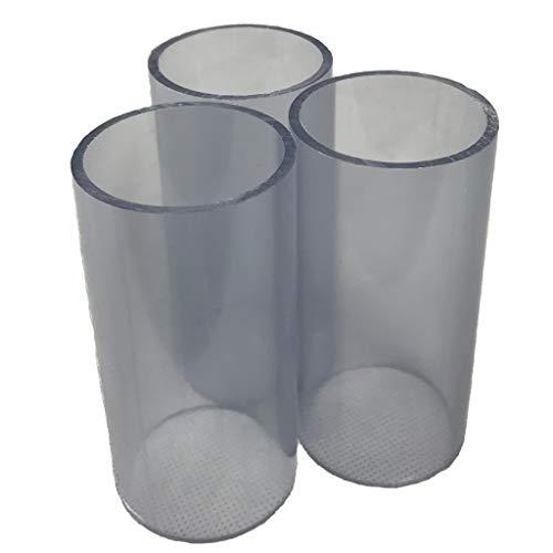well2wellness® PVC Rohr 50mm PVC Druckrohr 50mm 10 bar transparent - 3 x 10cm