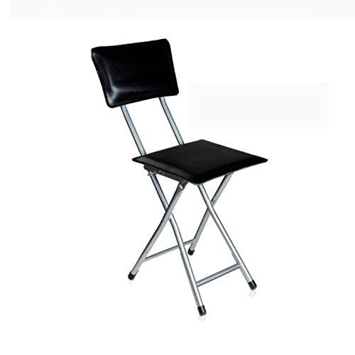 KFXL yizi Silla Plegable Silla de Comedor de Madera Moderna de los Muebles de Madera/Silla del Estudiante/Silla de Conferencia 2 sillas 2 Colores Opcionales (Color : Negro)