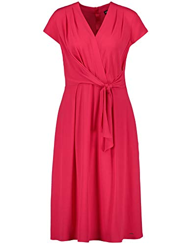 Taifun Damen Kleid Mit Wickel-Optik Tailliert Paradise Pink 38
