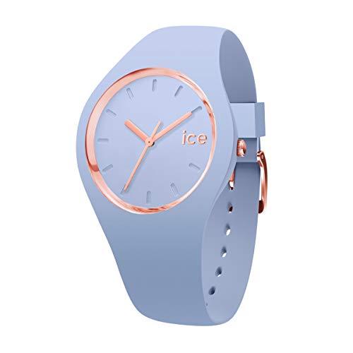 ICE-WATCH ICE Glam Colour Sky - Reloj Azul para Mujer con Correa de Silicona, 015333 (Medium)
