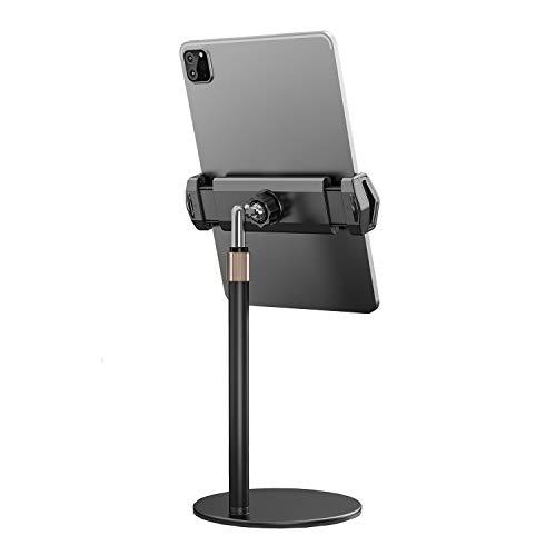 Tablet Stand, Height Adjustable Aluminium Stand, Tall Desk/Floor Tablet Holder for iPad, Samsung Tab, Kindle (4.7-13') (Black)